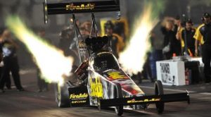 Leah Pritchett had to overcome the odds just to qualify for the NHRA Countdown to the Championship, but now she has a goal of winning the Top Fuel title. (NHRA photo)
